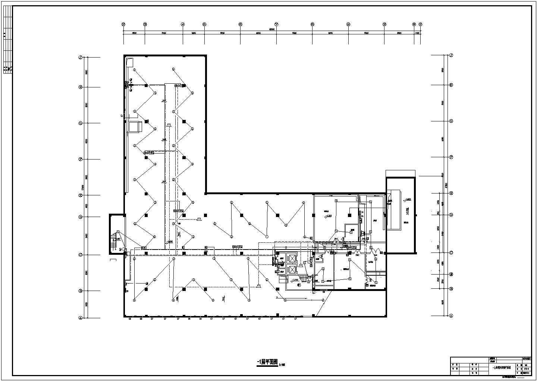 某六层办公楼电气设计cad图纸(地下一层)图片1