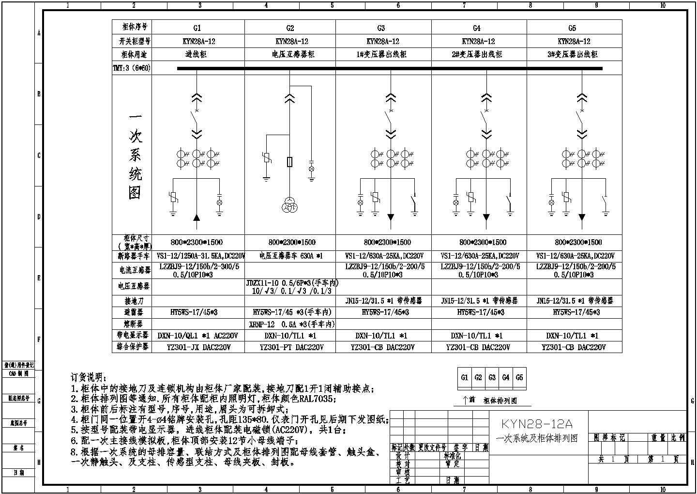 KYN28开关柜电气设计图图片2