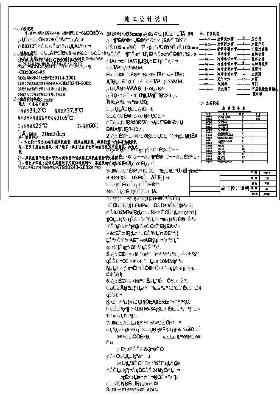 【广州】8312�O八层综合办公楼空调设计施工图图片1