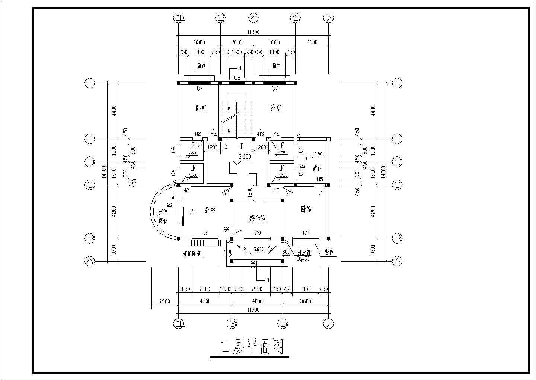 某地上三层钢筋混凝土结构别墅结构设计图图片2