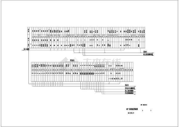 6KV高压柜电气施工cad图纸(含变压器柜原理)-图一