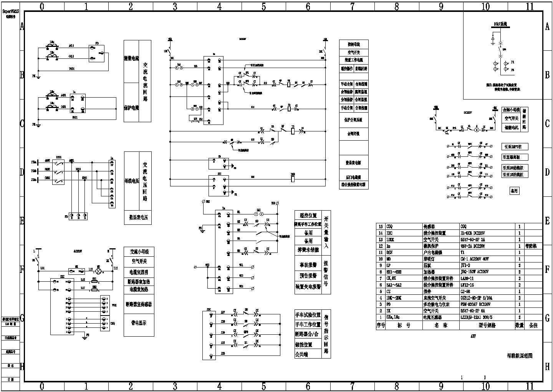 KYN28型开关柜电气原理设计图纸图片3