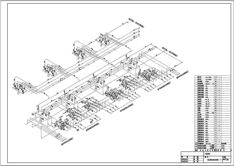 某2万多平大型冷库制冷设计cad图纸图片1