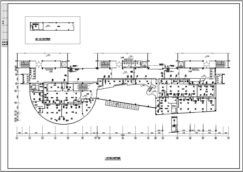 某综合楼空调设计cad图纸(空调水系统图)图片1