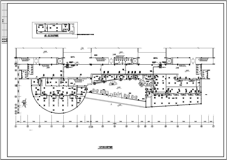 某综合楼空调设计cad图纸(空调水系统图)图片3
