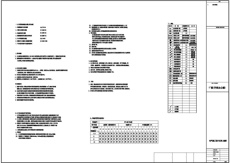 学校行政办公楼电气图(18张)图片1