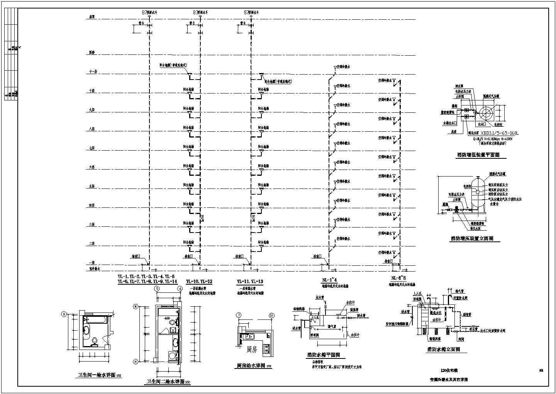 某地上十一层建筑给排水图纸(共7张图纸)图片1
