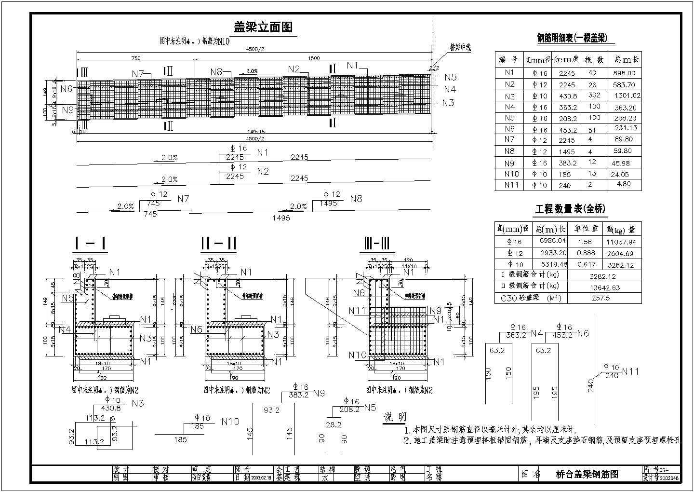 19+38+19m预应力混凝土铰接斜腿刚构桥全套设计图纸图片3
