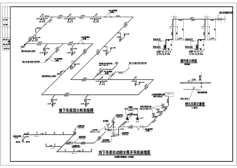 某三类地下车库消防设计施工图图片2