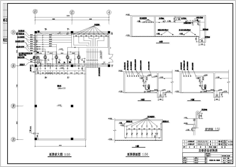 某小区1#地下车库消防设计图图片1