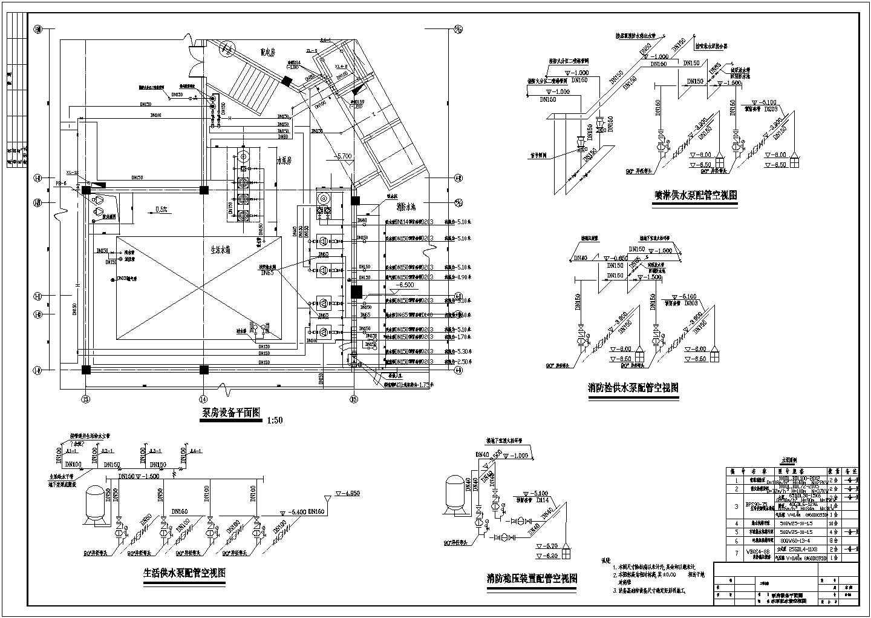 某高层地下车库消防设计施工图图片3