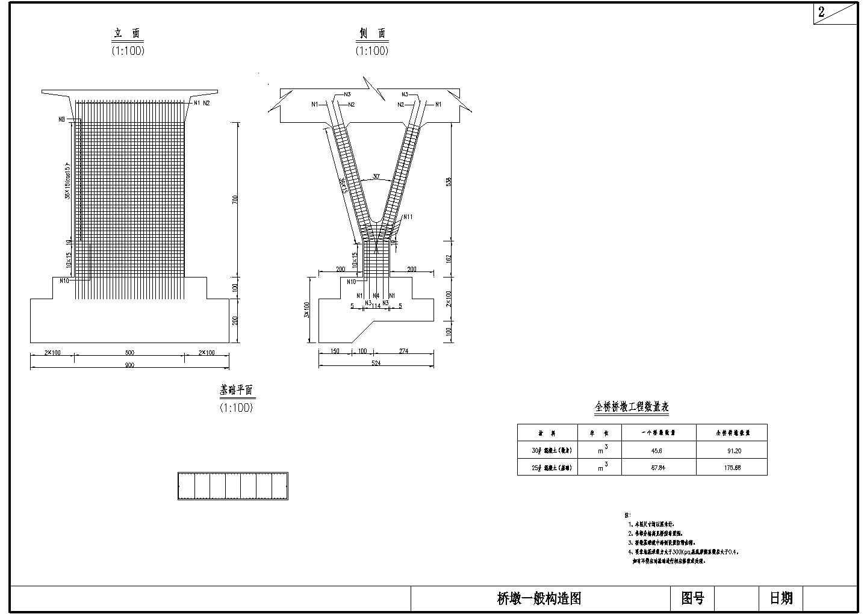 v型刚构桥成套cad设计图纸图片1
