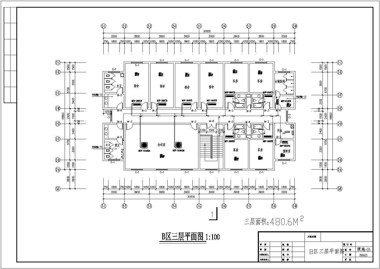 【河南】某综合办公楼空调设计cad图纸图片3