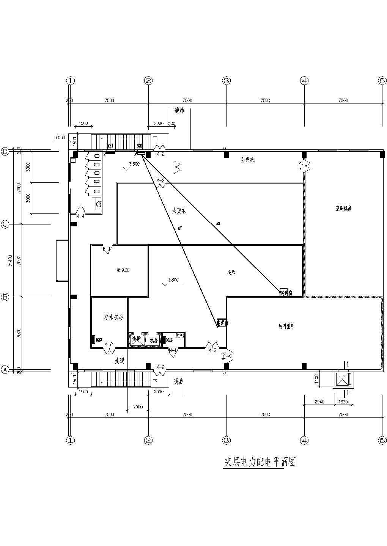 某洁净厂房电气施工图(含电气设计说明)图片3