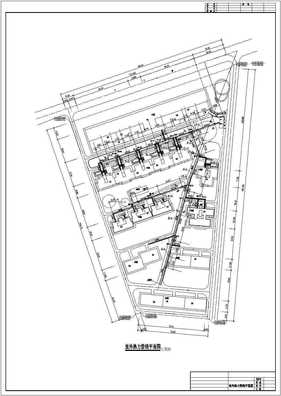 换热站至小区室外管网设计图(共4张图)图片3