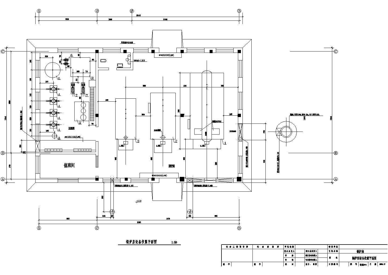 某锅炉房管道布置及采暖施工图图片2