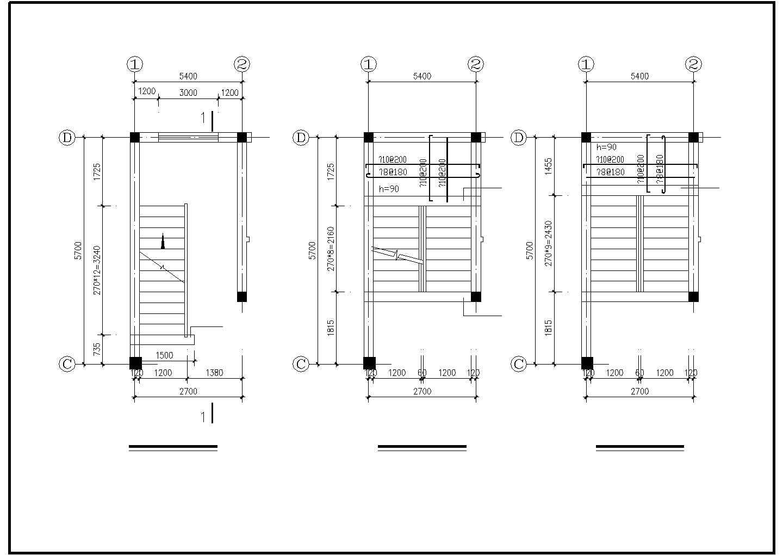 某二层框混别墅结构设计图图片3