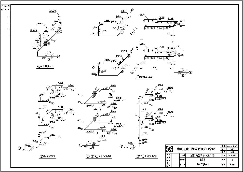 【东莞】某污水厂综合办公楼给排水设计图纸图片3