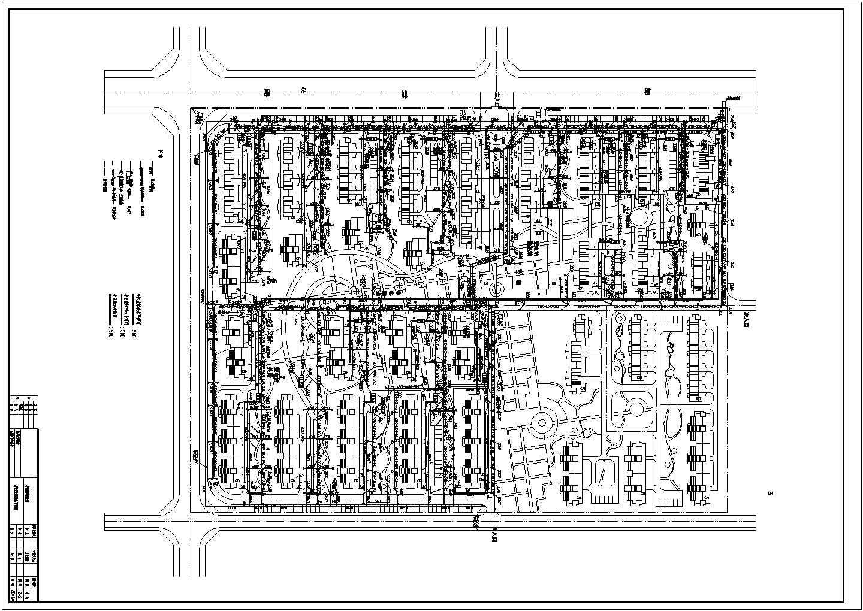 【湖北】某小区室外管网设计cad图纸图片1