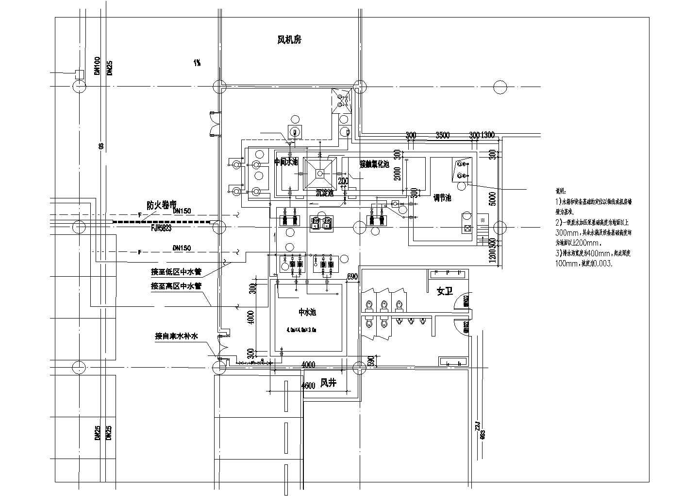 【上海】中水处理站建筑给排水图纸图片2