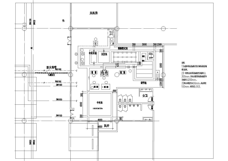 【上海】中水处理站建筑给排水图纸图片3