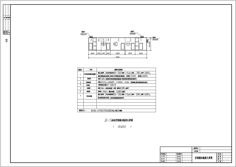 某洁净厂房空调施工图(共4张图纸)图片1