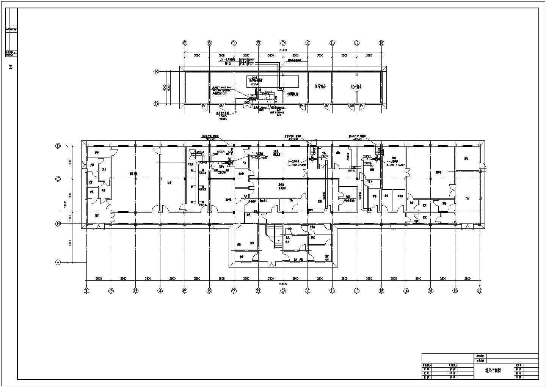 某洁净厂房空调施工图(共4张图纸)图片2