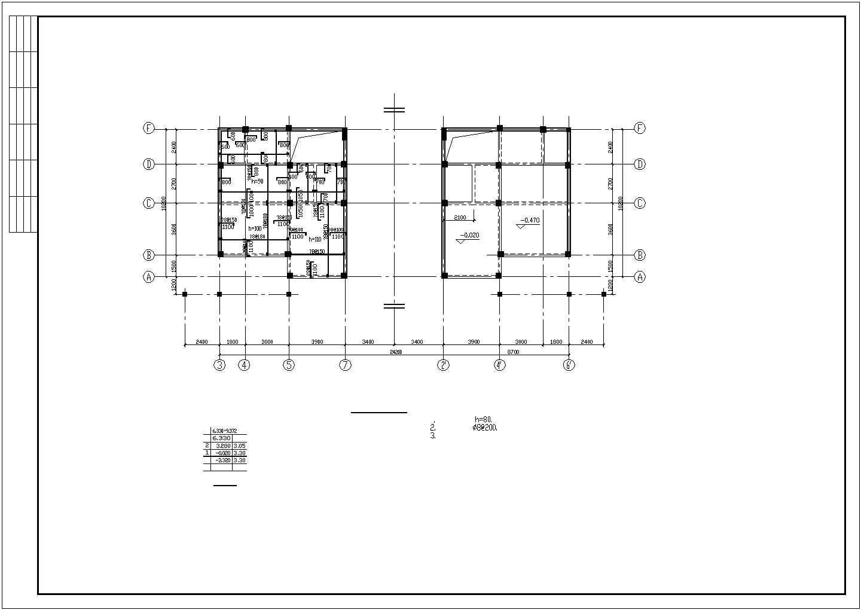 某双立A型别墅结构设计图,共13张图片1