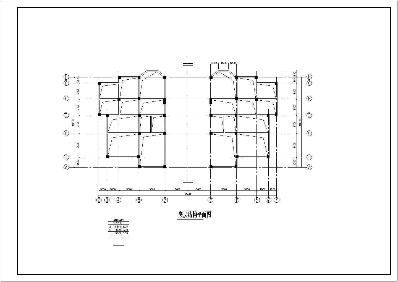 某双立A型别墅结构设计图,共13张图片2