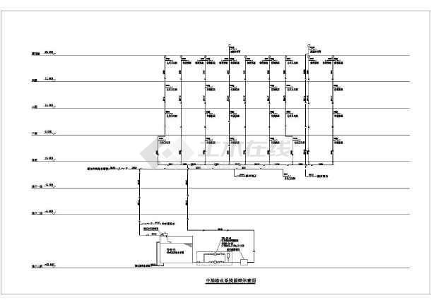 【北京】某四层社区商业项目D座给排水图纸-图一