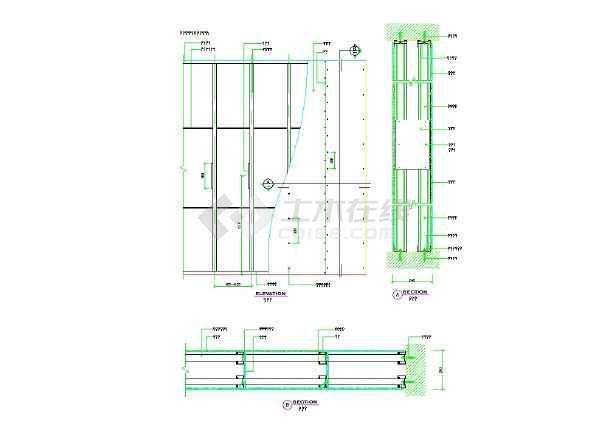 轻钢龙骨节点做法大全,室内设计-图二