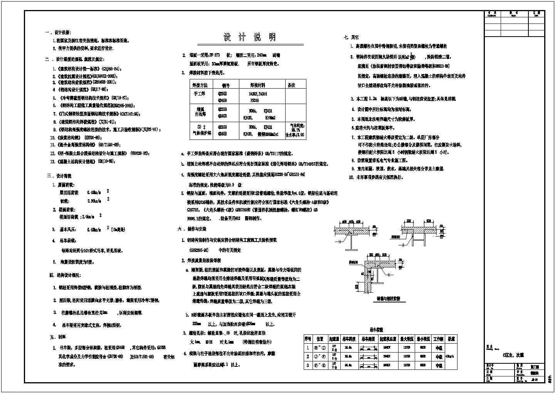 钢结构设计说明(cad版)图片1