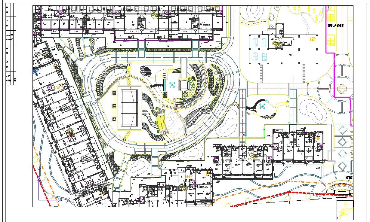 [南安]住宅小区中庭绿地植物配置设计施工图图片1