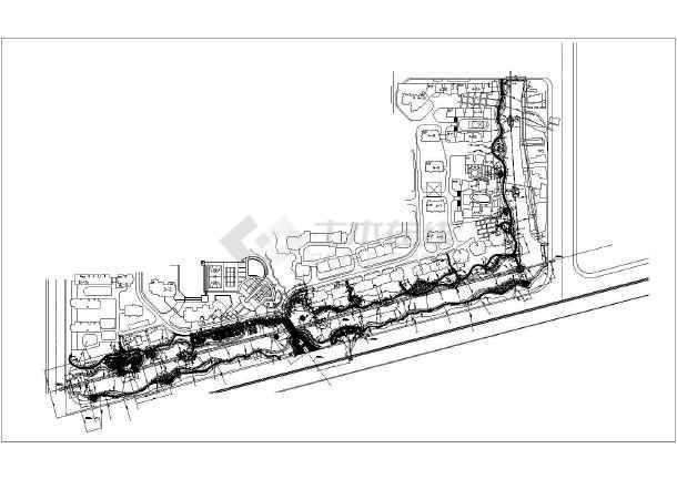 点击查看浙江某高档花园住宅小区园林景观施工图(图纸齐全)第2张大图