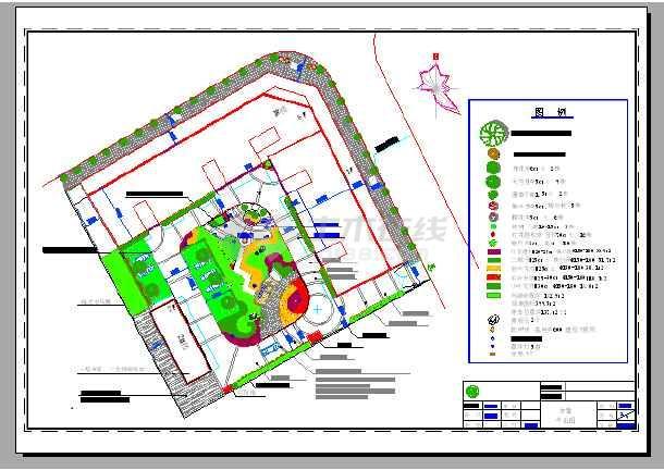 点击查看四川省某小区园林景观施工图(共12张图纸)第1张大图