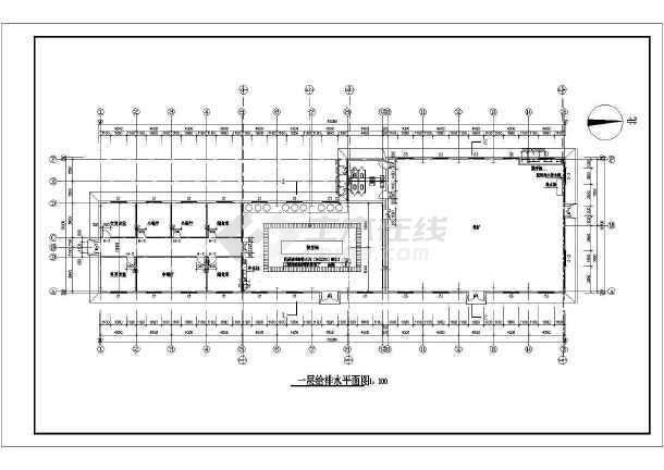 朔州市某一层食堂给排水设计施工图-图二