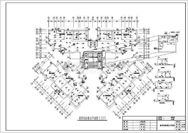 点击查看某十八层花园3#楼给排水设计施工图第1张大图