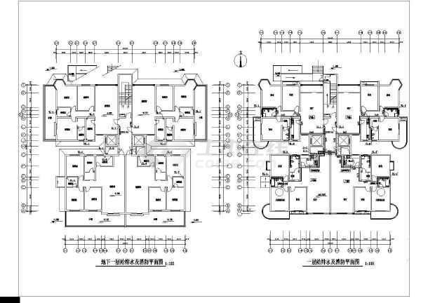 某十六层高层综合楼给排水设计施工图-图二