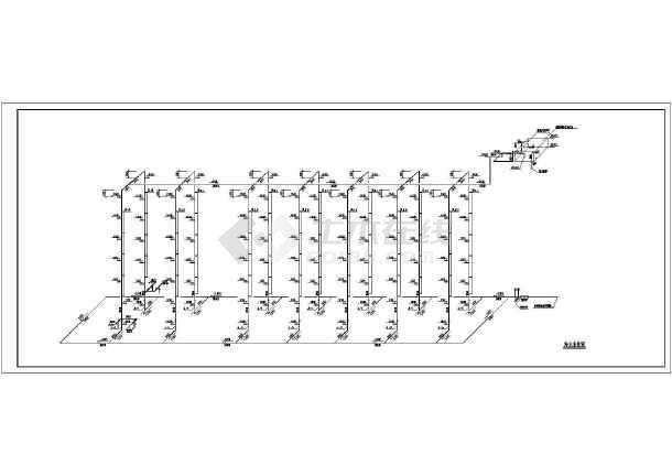 点击查看学生寝室给排水设计施工图第1张大图