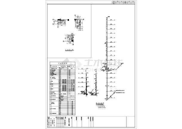 某十八层小区11#楼给排水施工图-图一