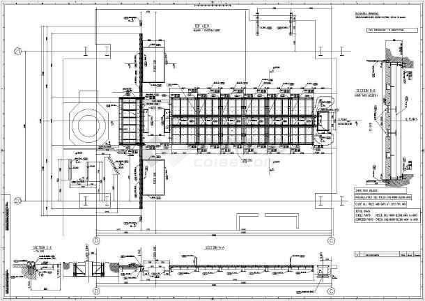 某混凝土浇筑平台结构详图-图一