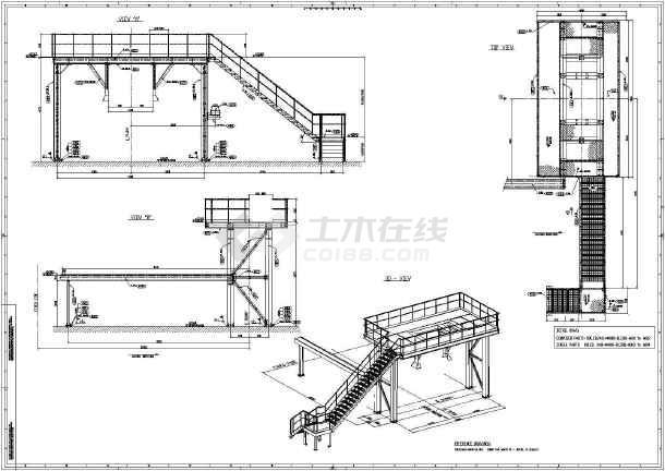 某混凝土浇筑平台结构详图-图二