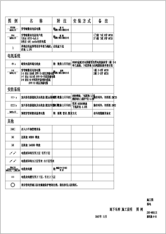 广西柳州某小区地下车库弱电平面图图片1