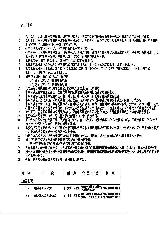 广西柳州某小区地下车库弱电平面图图片2