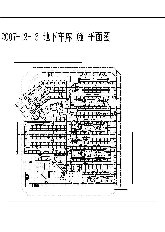 广西柳州某小区地下车库弱电平面图图片3