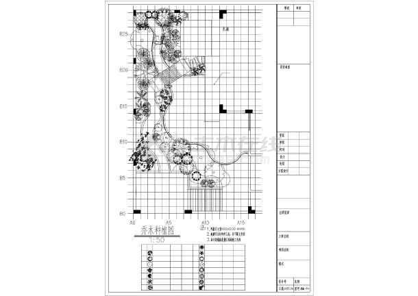 点击查看某别墅园林绿化施工全套图(共11张图纸)第2张大图