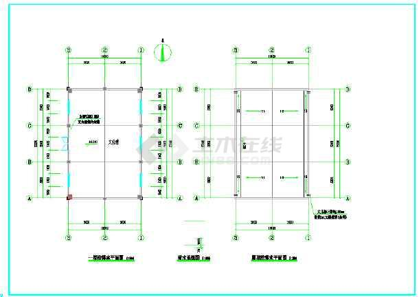 点击查看城西村某框架结构文化礼堂给排水施工图(建筑高度四米)第1张大图