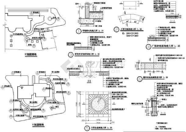 点击查看小区园林绿化施工图第1张大图