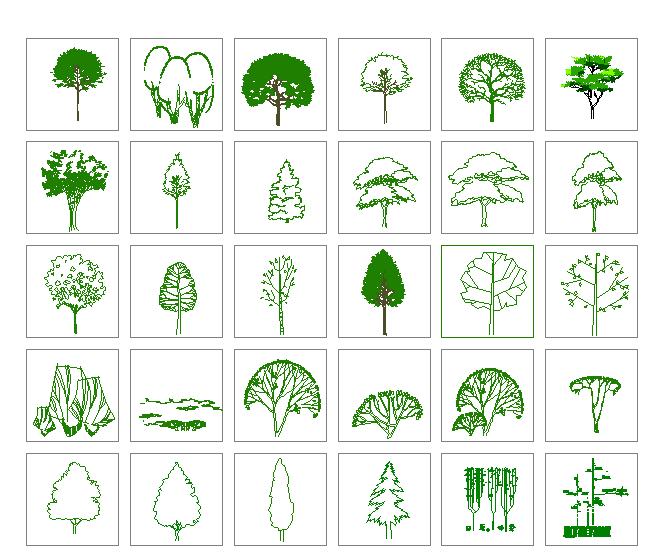 园林景观各种湿地植物图例(共二百零五个)图片1