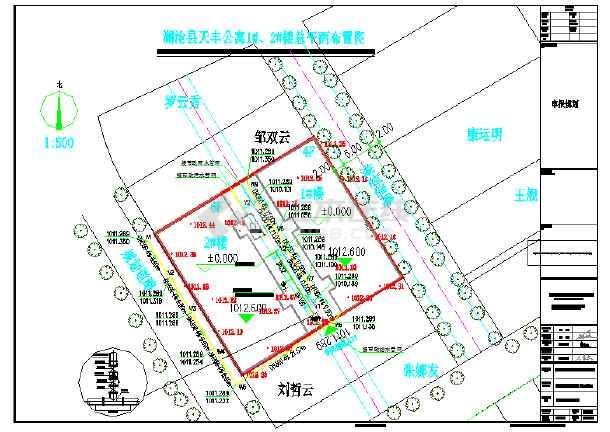 某县城小型公寓给排水总图-图一